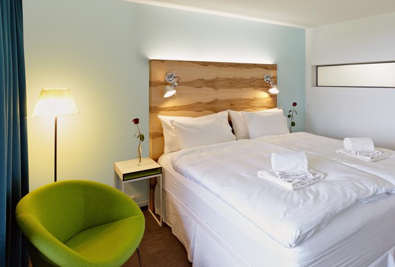 Die Betten garantieren einen hohen Schlafkomfort.
