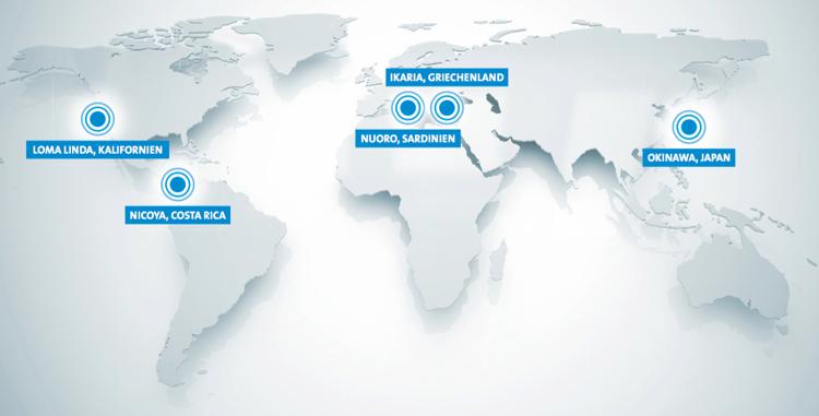 Blue Zones: Fünf Orte, an denen die Menschen am ältesten werden