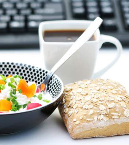 Gesund essen in Büro