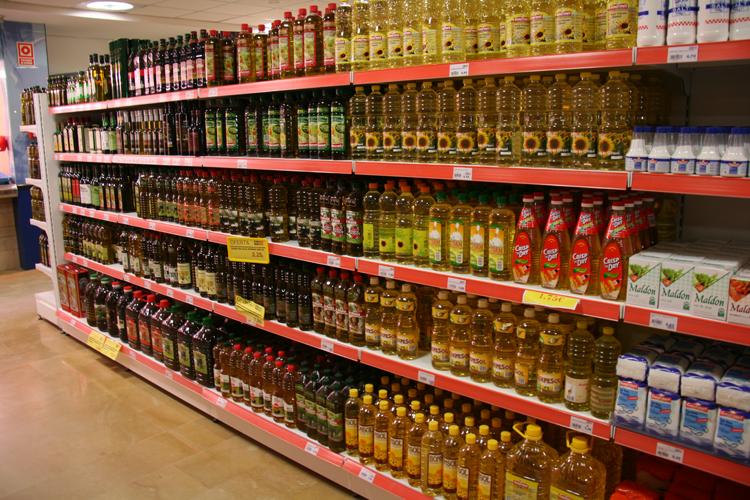 Rapsöl im Supermarkt