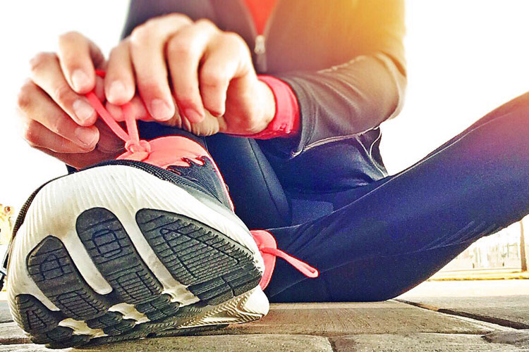 Richtige Schuhe sind beim Joggen wichtig