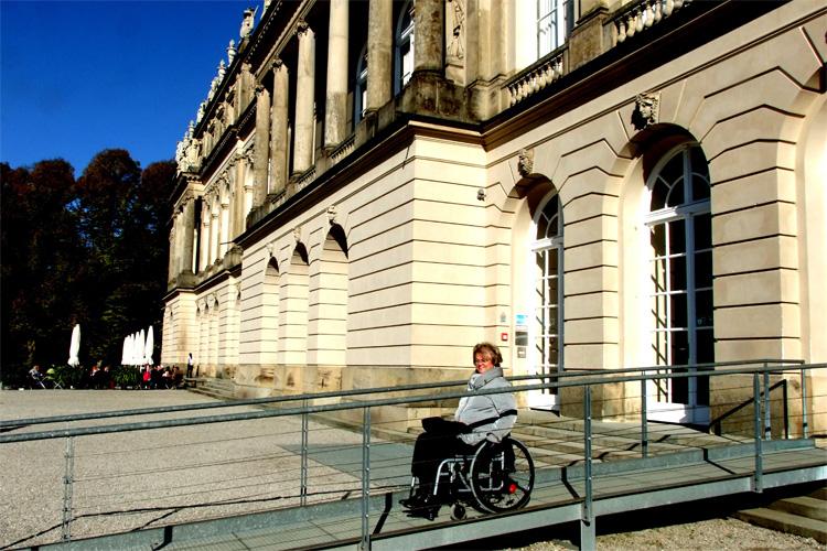 Rollstuhlrampe auf Herrenchiemsee