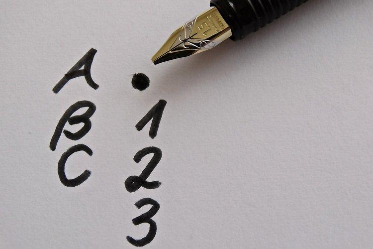 Gewohnheit Schreiben