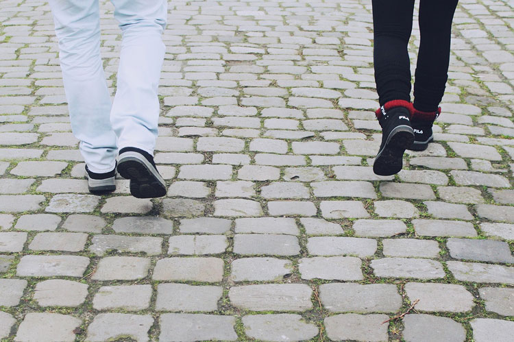 Bei Verlangen spazieren gehen