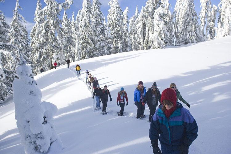 Schneeschuhlaufen gegen Winterdepressionen