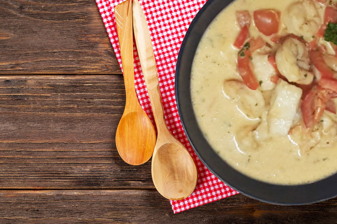 Garnelen-Kokospfanne: Die richtige Dosis Proteine für Eiweißtypen.