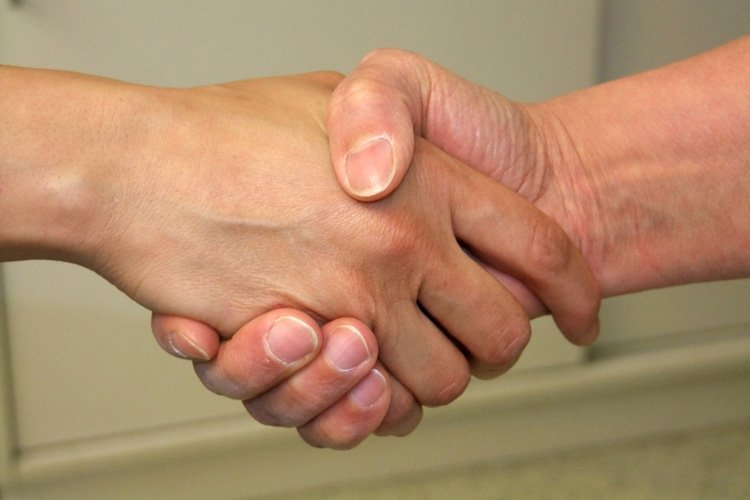 Beim Händeschütteln werden sehr viele Bakterien übetragen