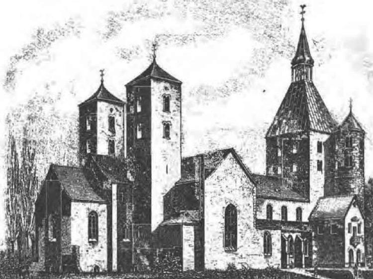 Abbildung des Kloster Freckenhorst, in dem die Struwen bekannt wurden.