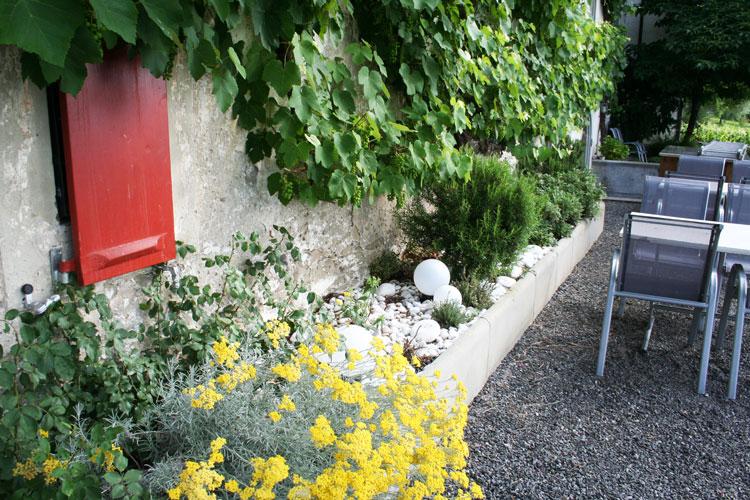 Geschützte Südwand im Garten