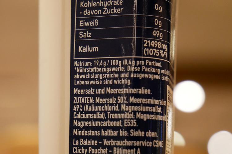 Salzreduziertes Salz