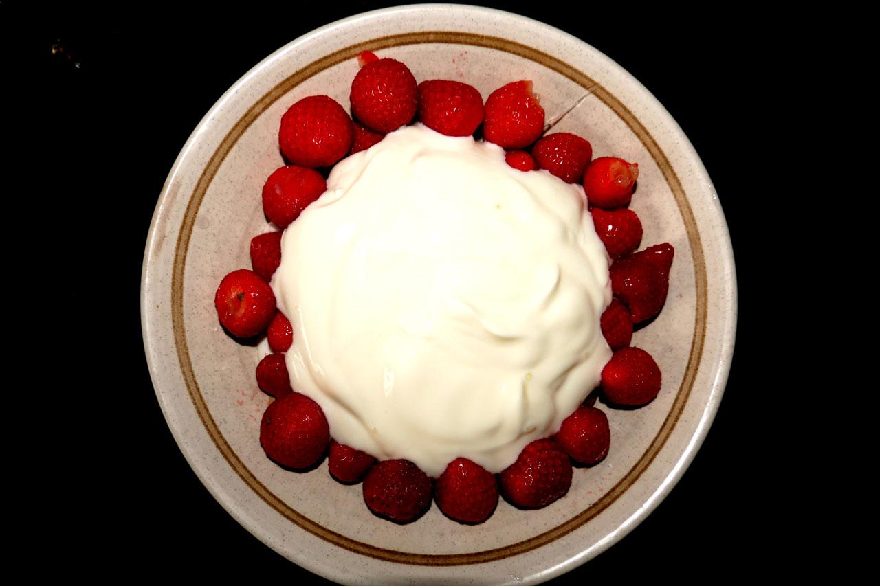 Erdbeeren mit Sahne