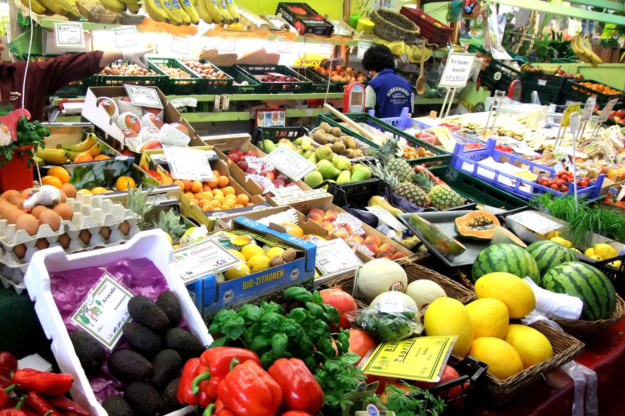 Gemüseabteil im Supermarkt