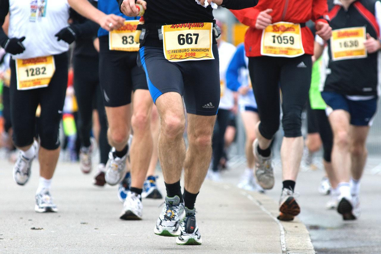 Läufer beim Marathon-Wettkampf