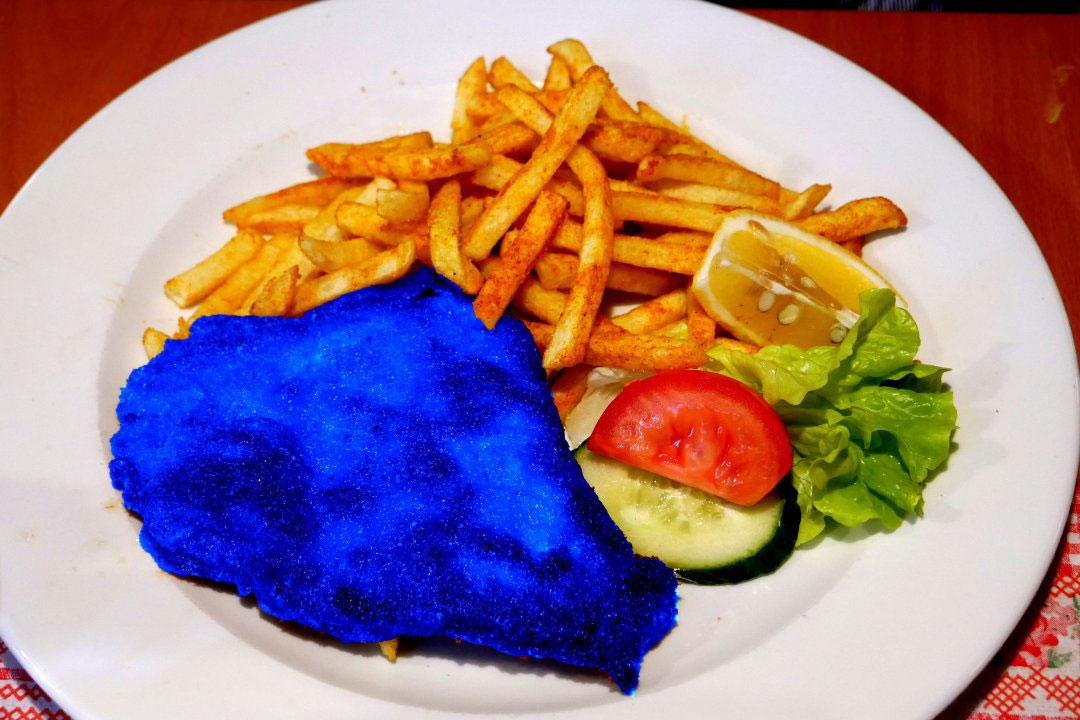 Blaues Wienerschnitzel