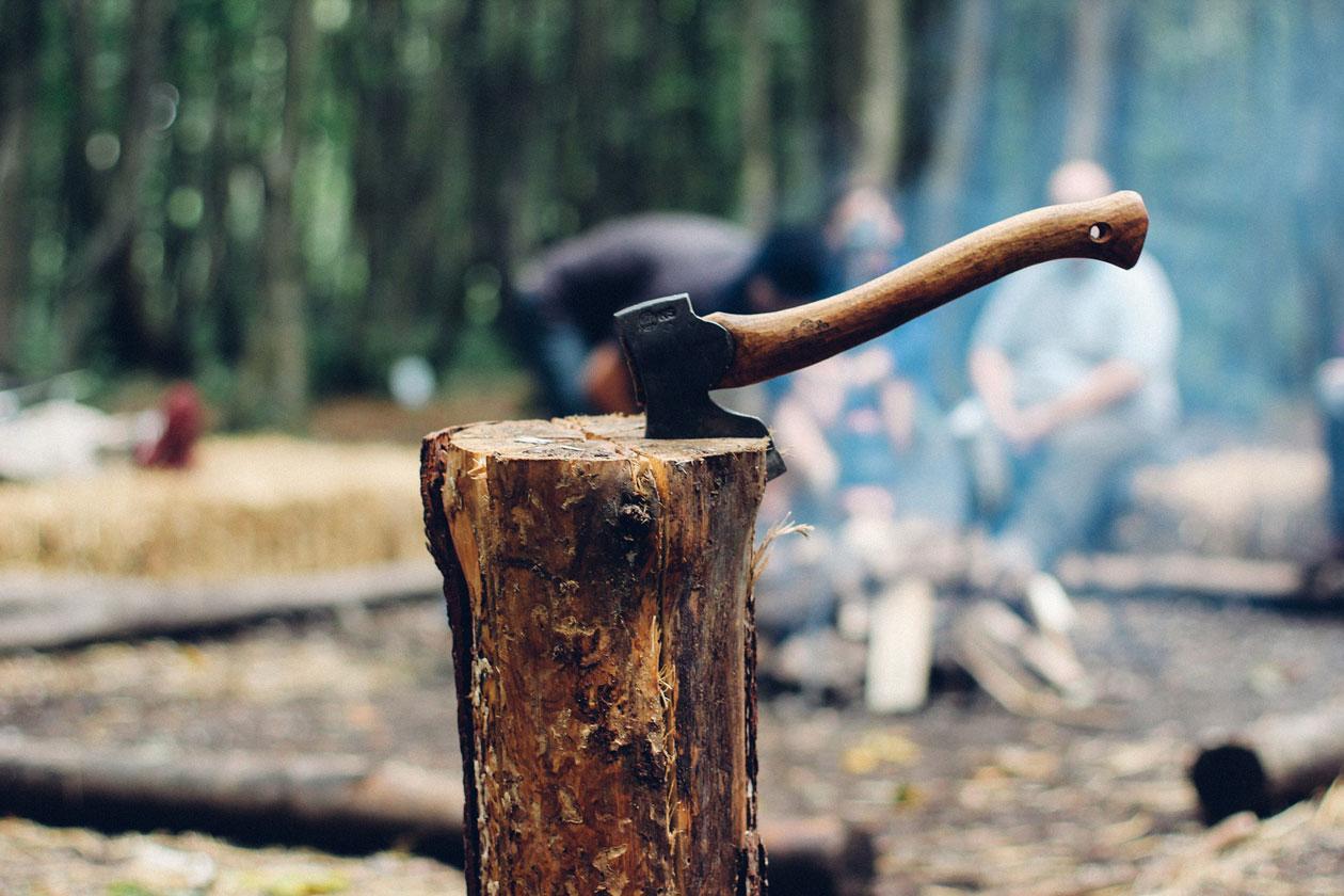 Beil zum Holzhacken