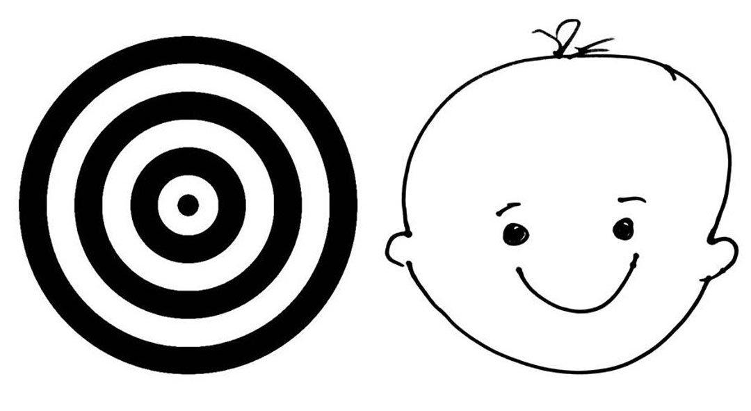 Zielscheibe und Kinderkopf