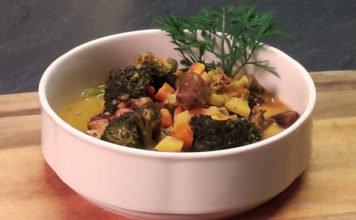 Lammfleisch-Curry mit Möhren, Kartoffeln und Brokkoli