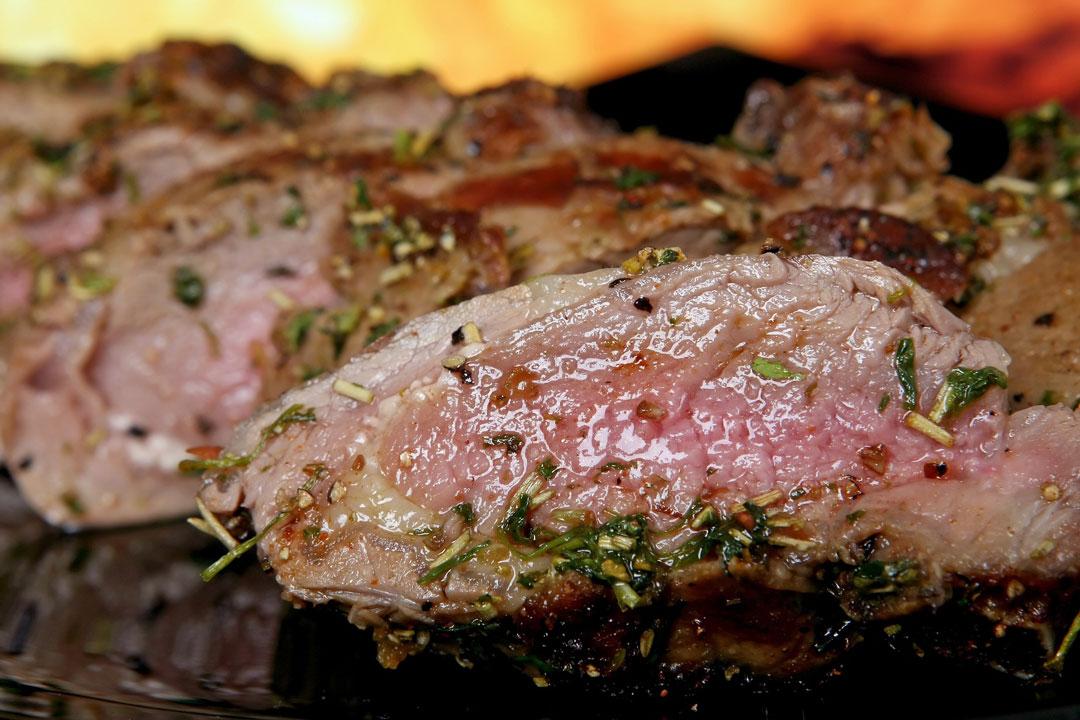 Lammfleisch geschmort
