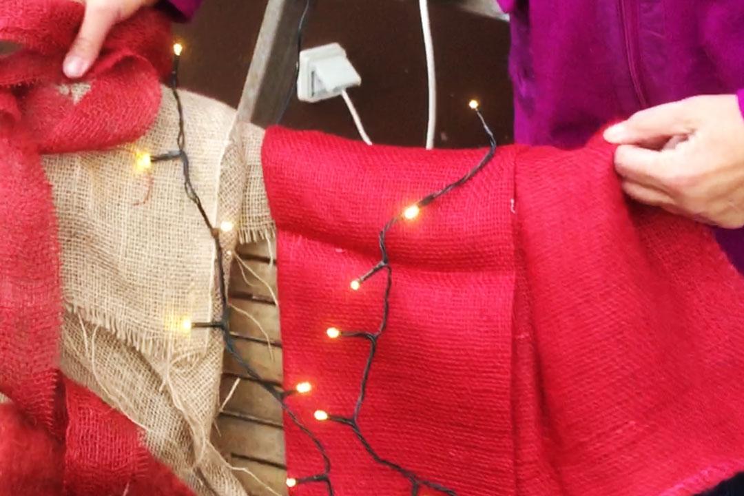Lichterkette für die Weihnachtsdekoration