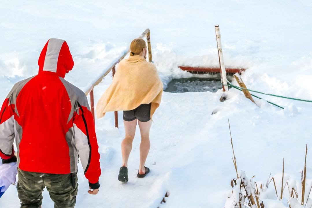 Eisbaden an Silvester