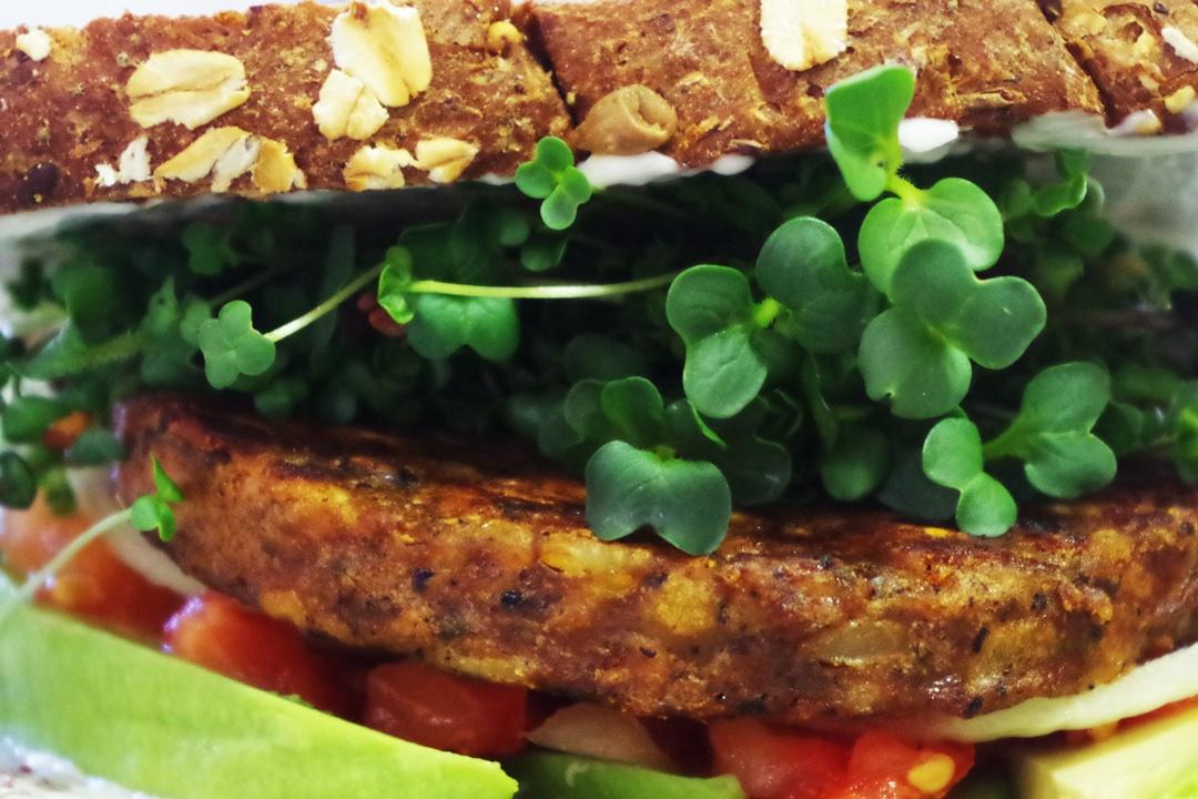 Sandwich mit Sprossen