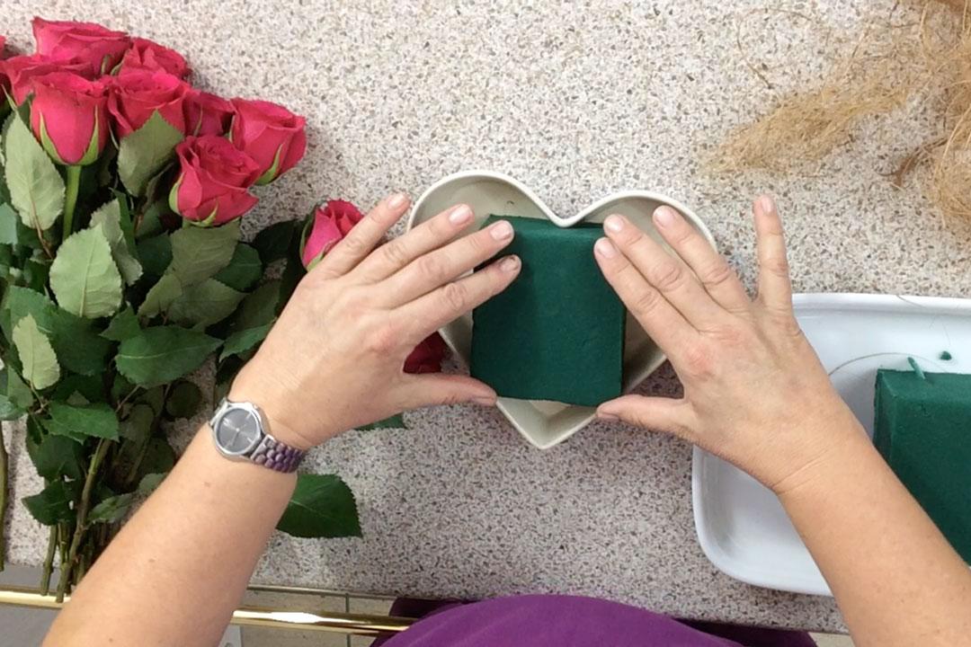 Materialien, die Sie für das Rosenherz benötigen