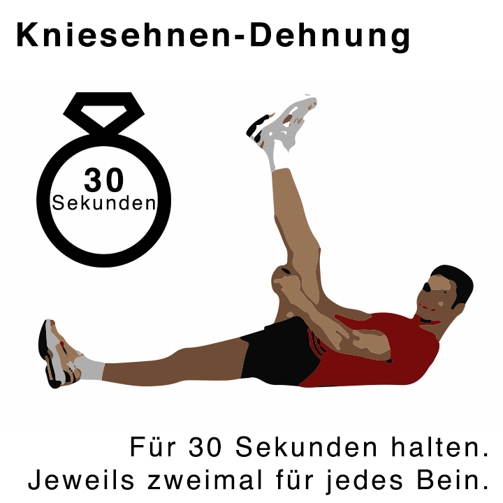Kniesehnen-Dehnübungen für 30 Sekunden