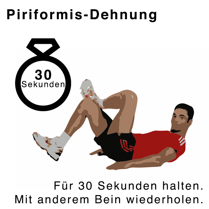 Piriformis Dehnübungen für 30 Sekunden