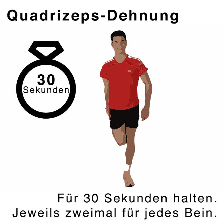 Quadrizeps-Dehnung im Stehen