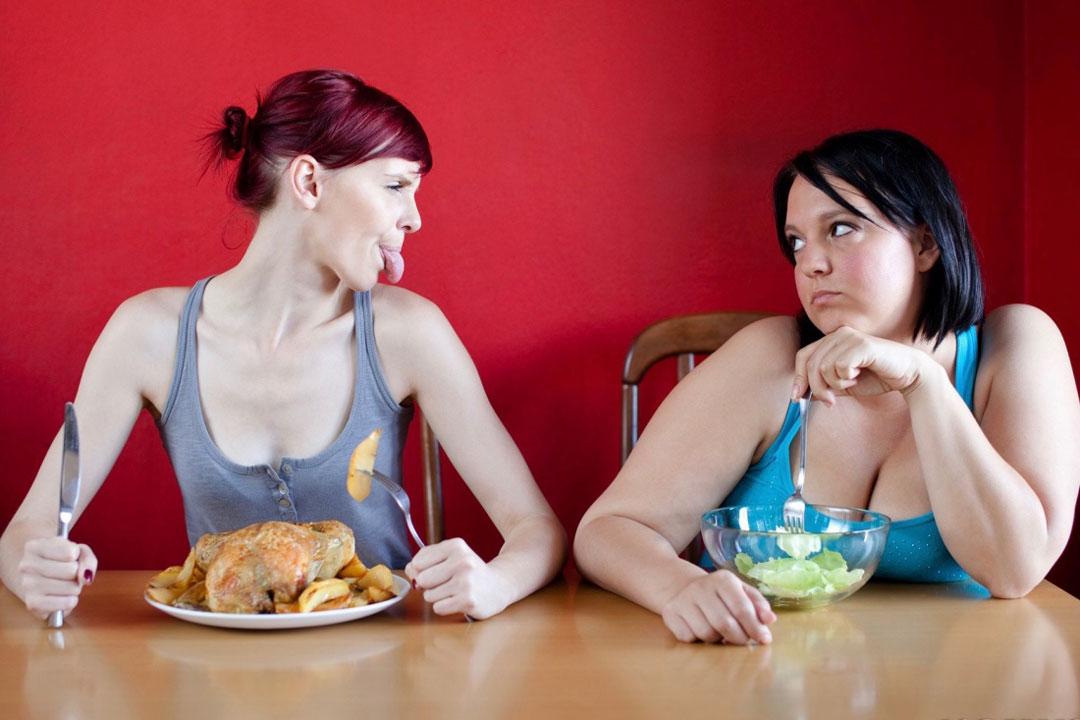 Während die einen essen können, was sie wollen, müssen andere hungern, um nicht zuzunehmen.