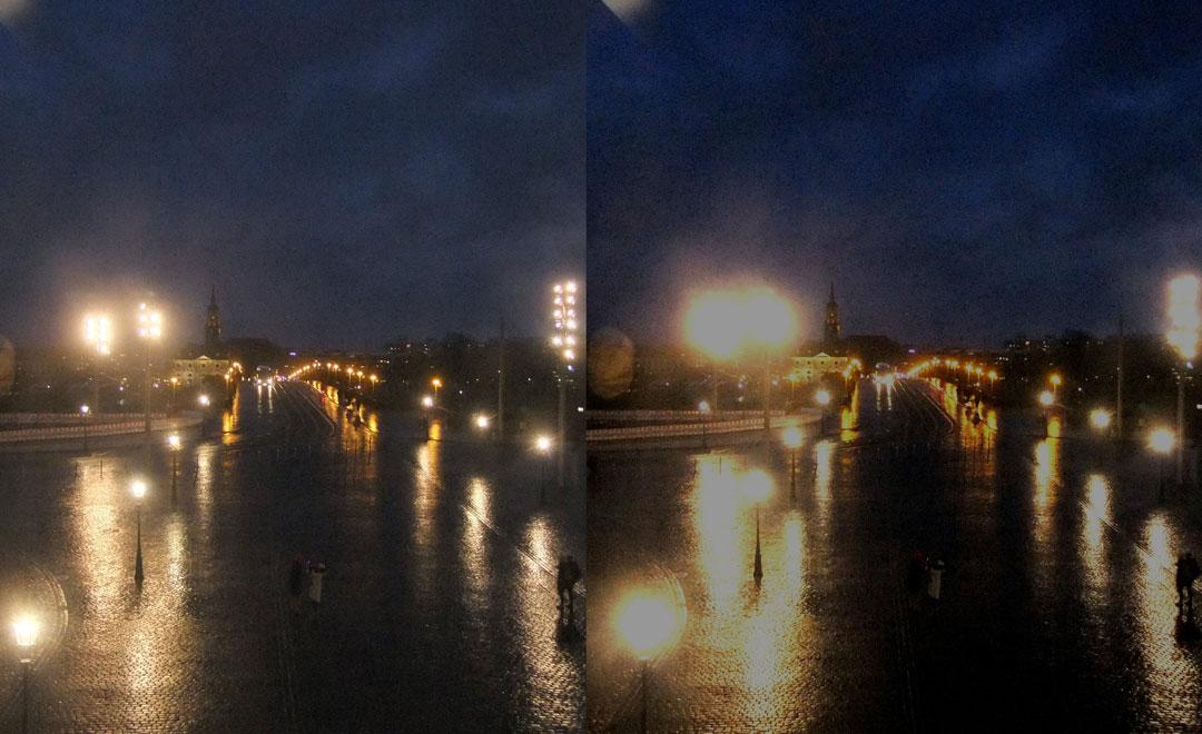 Grauer Star nachts im Strassenverkehr