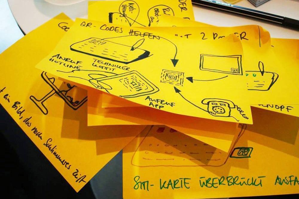 Post-it Notizen im Brainstorming steigert die Kreativität