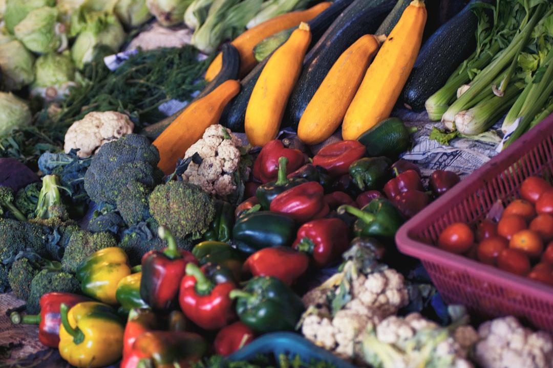 Gemüse vom Markt für Antipasti