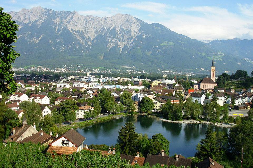 Buchs im Schweizer Kanton St. Gallen.