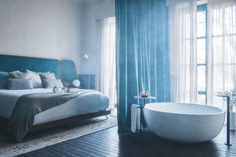 Schlaf- und Badzimmer vom Can Bordoy - eines der Hotels auf Mallorca