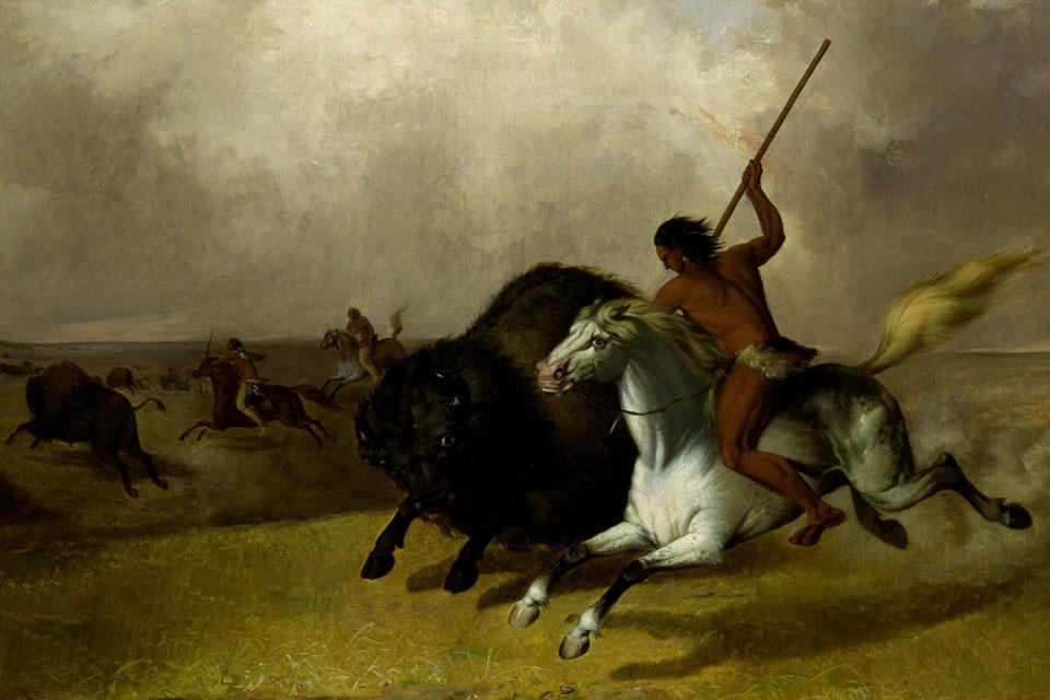 Indianer auf Büffeljagd