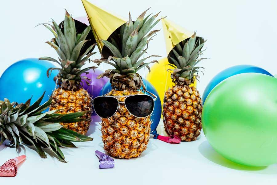 Partyartikel für die Gartenparty bei Regen