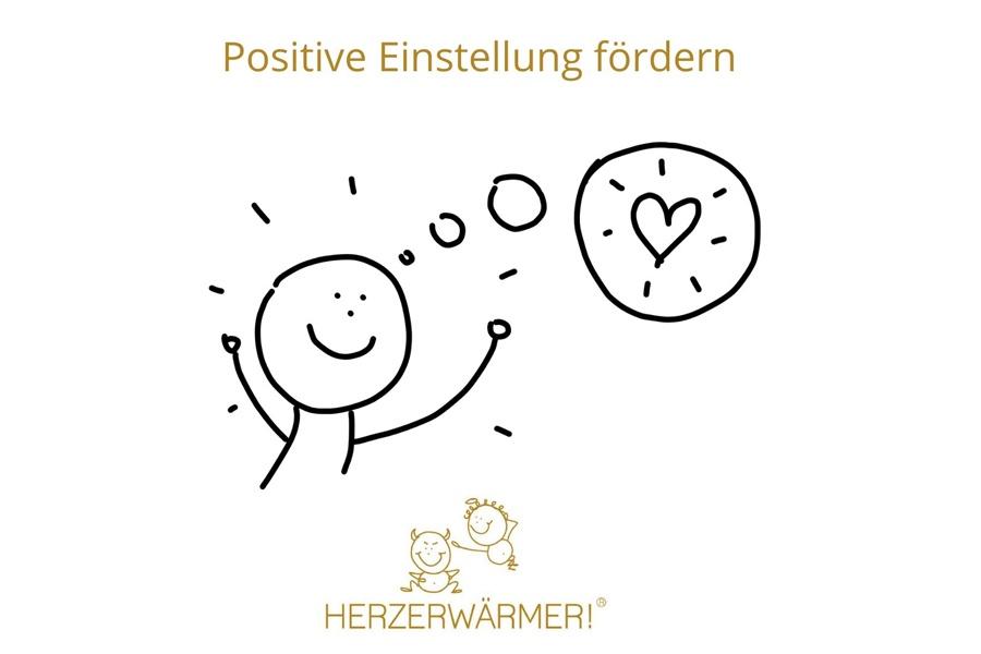 Strichzeichnung zum Thema Zusammenhalt: Positive Einstellung fördern