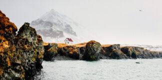 Blick auf Islands Küste die als Buchcover für Kalmann von Joachim B. Schmidt dient