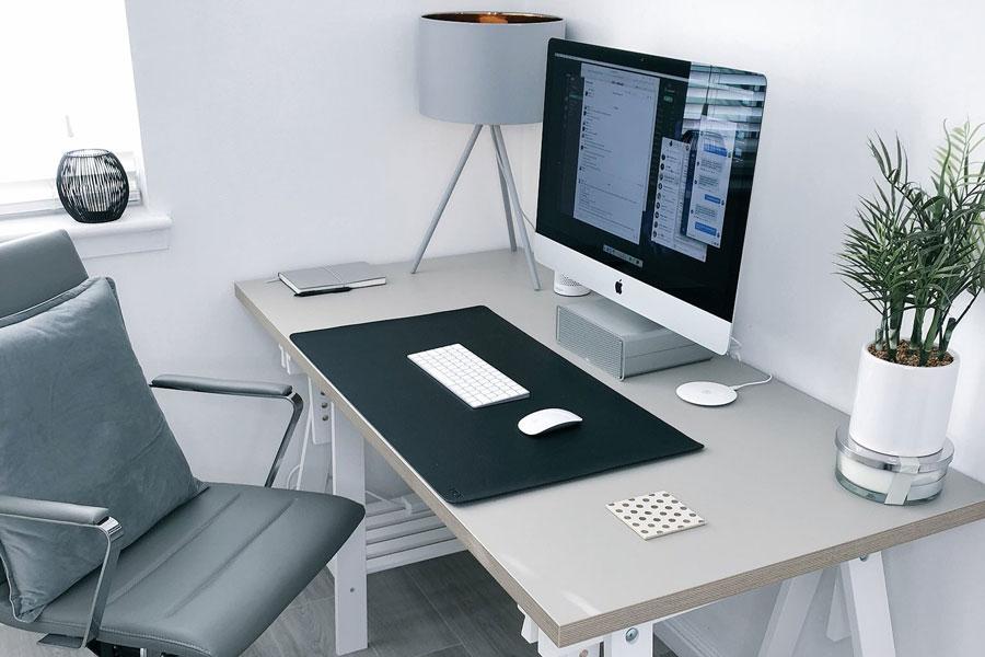 Ein temporärer Arbeitsplatz im Home Office