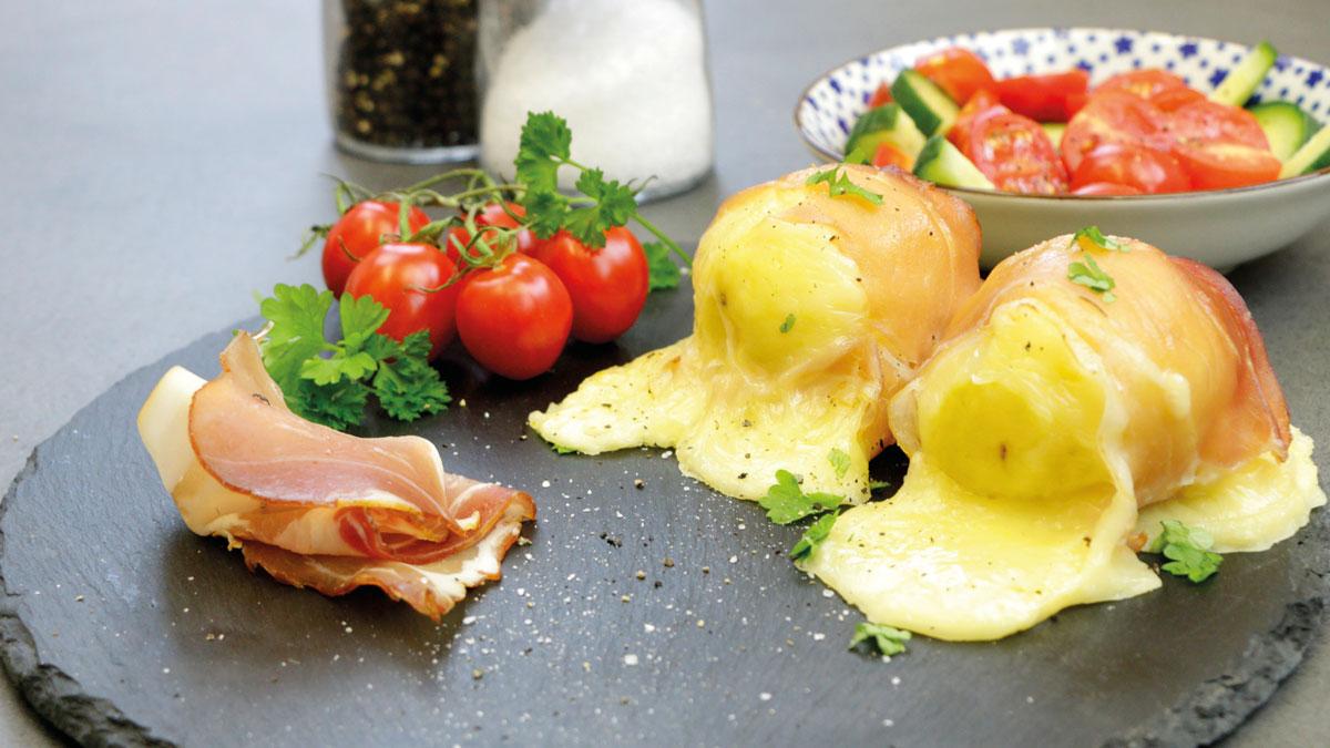 Als Alternative zum Käsefondue: Raclette-Kartoffeln aus dem Ofen.