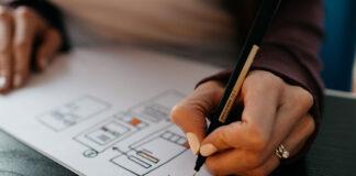 Planung auf einem Papier um zu klären, was sein vor haben ist.