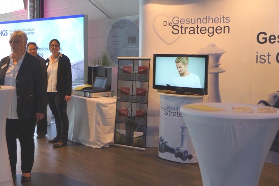 Messestand der GesundheitsStrategen auf dem Präventionskongress 2019 in Köln